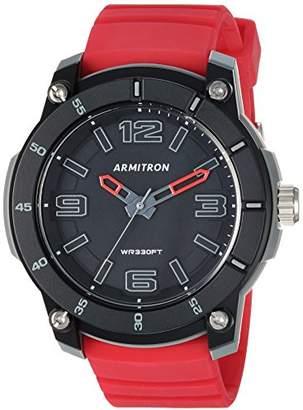 Armitron Sport Men's 20/5304RED Red Silicone Strap Watch