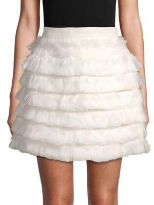 Club Monaco Fidelma Feather Mini Skirt