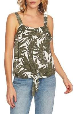 1 STATE 1.STATE Tie-Front Button-Down Tank Top