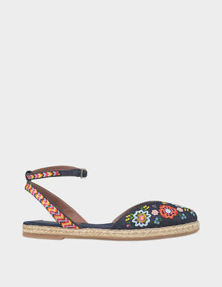 Tabitha Simmons Dotty festival floral espadrille
