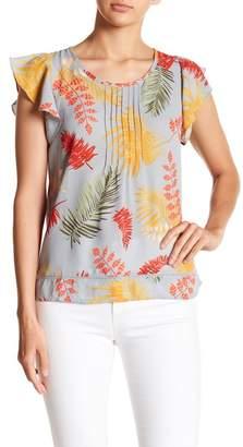 Hazel Cap Sleeve Floral Print Blouse
