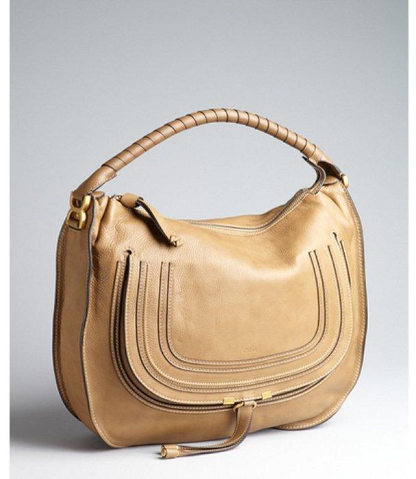Chloé nut brown leather 'Marcie' large hobo bag