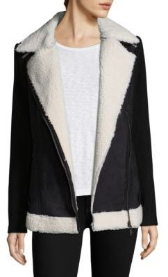 Design History Faux Fur Knit Sleeve Jacket $205 thestylecure.com