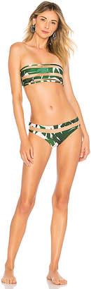 ADRIANA DEGREAS Tulle Detail Bandeau Bikini Set