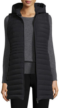 Peuterey Hooded Zip-Front Puffer Vest $720 thestylecure.com