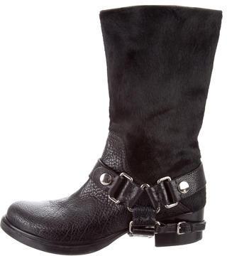 Miu MiuMiu Miu Ponyhair Moto Boots