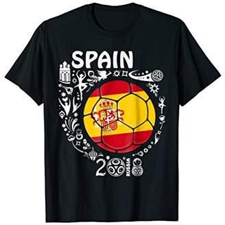 Spain Soccer Jersey T Shirt 2018 Team men women kids