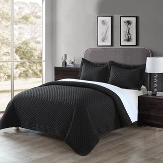 Lotus Home Microfiber Stain- and Water-Resistant Diamond Quilt