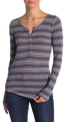 Lucky Brand Patterned Thermal Henley