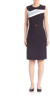 BOSS Blurred Focus Sheath Dress $625 thestylecure.com