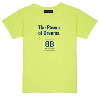 Balenciaga Kids - Unisex Cotton Jersey T Shirt - Womens - Yellow