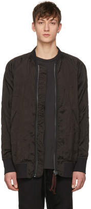 Ziggy Chen Black Deep Cuff Bomber Jacket