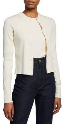 Helmut Lang Femme Button-Front Slim Cardigan