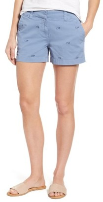 Women's Vineyard Vines Whale Embroidery Shorts $78 thestylecure.com