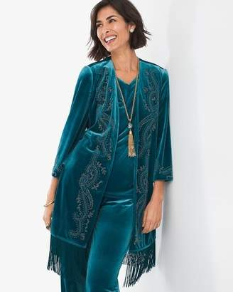 Travelers Collection Embellished Velvet Jacket