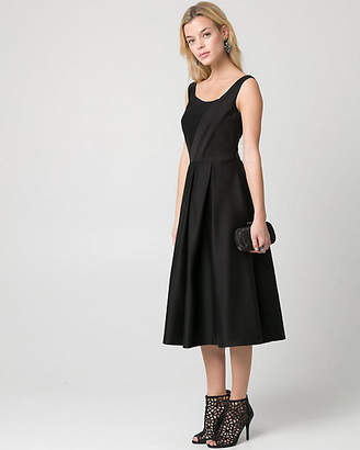 Le Château Double Weave Square Neck Cocktail Dress