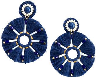 Vineyard Vines Beaded Circle Tassel Earrings