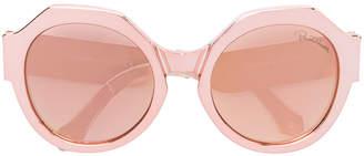 Roberto Cavalli metallic oversize sunglasses