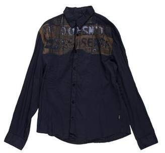 CNC Costume National Printed Button-Up Shirt