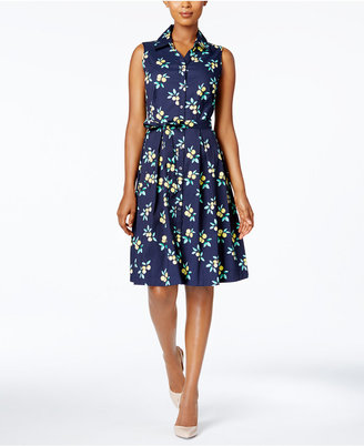 Charter Club Printed Fit & Flare Shirtdress, Only at Macy's $99.50 thestylecure.com