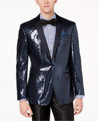 Tallia Orange Men's Modern-Fit Navy Sequin Dinner Jacket