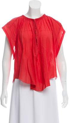 IRO Short Sleeve Pleated Top