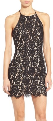 ASTR Lace Open Back Minidress $74 thestylecure.com