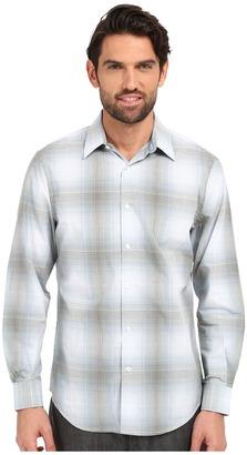 Perry Ellis Large Ombre Plaid Pattern Shirt $59.99 thestylecure.com