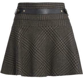 Belstaff Aldford Checked Wool And Angora-Blend Mini Skirt