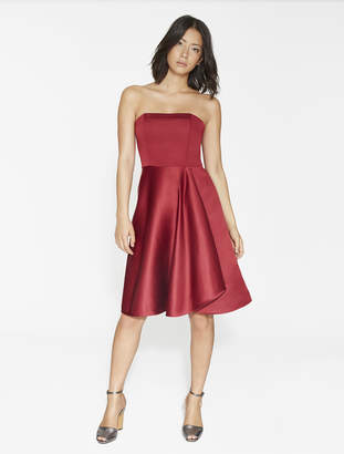 Halston Strapless Satin Faille Dress