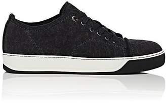 Lanvin Men's Cap-Toe Felted Wool Sneakers