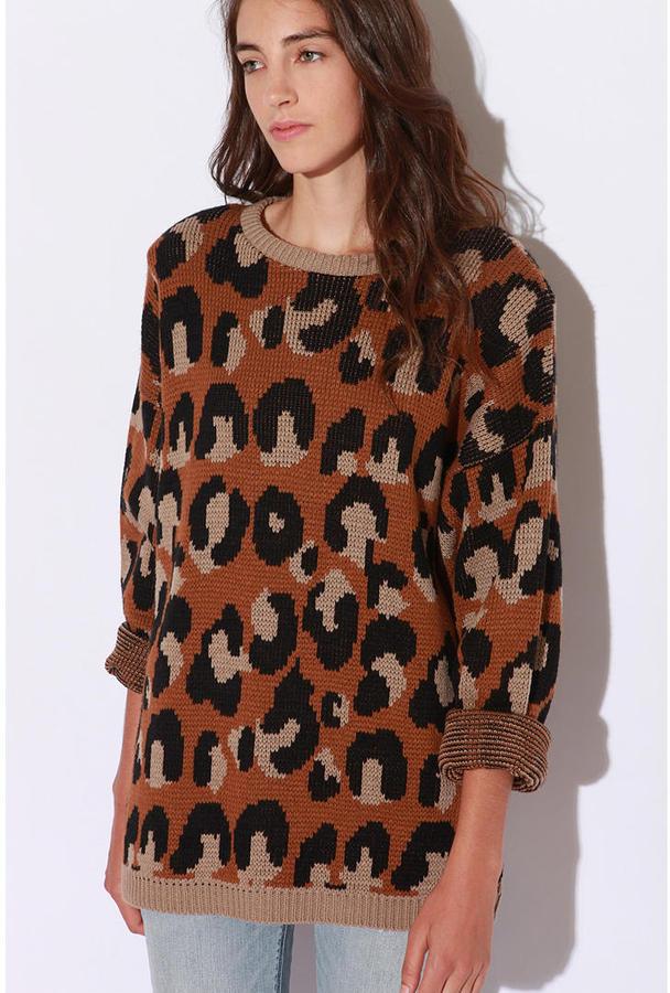 Sparkle & Fade Leopard Pullover Sweater