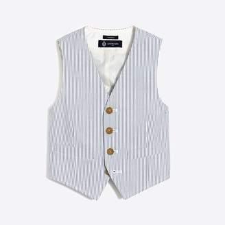 J.Crew Factory Boys' Thompson suit vest in seersucker