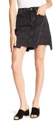 Blank NYC BLANKNYC Denim Frayed & Uneven Denim Skirt
