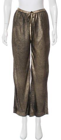 Emilio Pucci Metallic Silk Pants