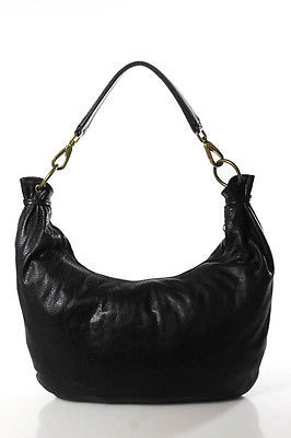 Miu Miu Miu Miu Black Leather Single Strap Hobo Shoulder Handbag