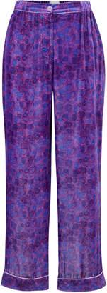 Helmstedt Wide Leg Vlour Pj Pants Size: M/L