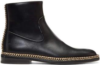 Lanvin Black Chain Chelsea Boots