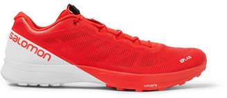 Salomon S/lab Sense 7 Two-tone Mesh Running Sneakers - Red