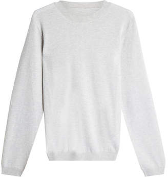 Maison Margiela Wool Pullover with Suede Elbow Patches