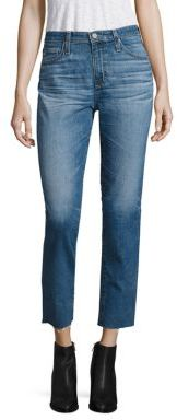 AG Jeans AG Isabelle High-Rise Cropped Straight-Leg Jeans