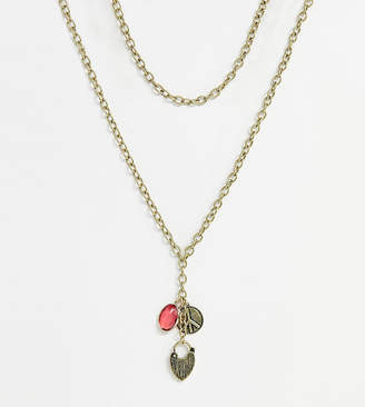 Liars & Lovers chunky gold chain charm drop necklace