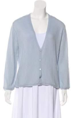 Agnona Cashmere Button-Up Cardigan