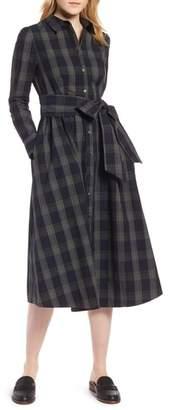 1901 Plaid Midi Shirtdress