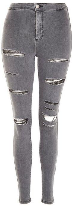TopshopTopshop Moto grey super ripped joni jeans