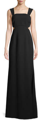 Jill Stuart Cutout Square-Neck Sleeveless Gown