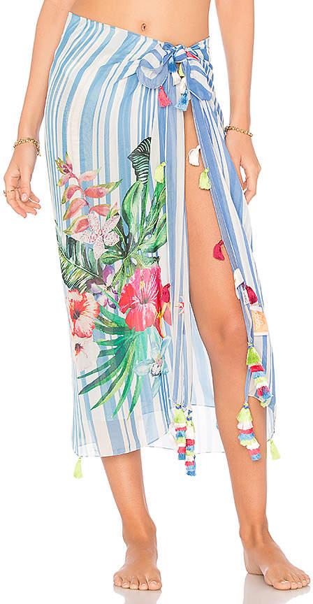 Stripe Blossom Sarong