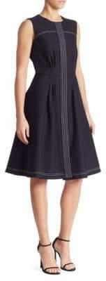 Oscar de la Renta Cotton-Blend Fit & Flare Dress