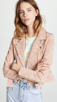 Blank Candy Crush Suede Moto Jacket