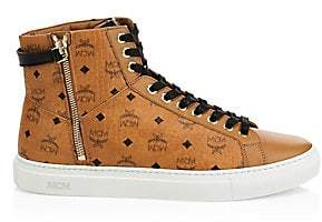 MCM Men's High-Top Logo Sneakers